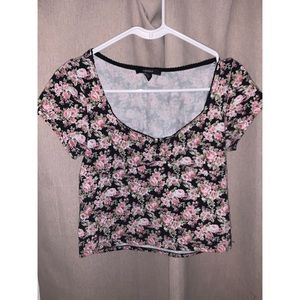Floral forever 21 top(could be crop)